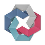 Stylized abstract origami element for design Stock Photos