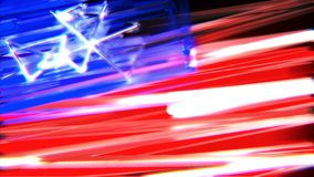 Glowing Abstract Scribble USA Flag Background Loop. A stylized abstract rendition of the US flag interpreted by frenetic scribble lines stock video footage