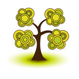 Stylized abstract spring tree. Stylized abstract green spring tree Stock Photography