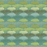 Stylized abstract tree illustration. Wallpaper seamless pattern. Stock Photography