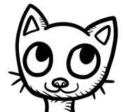 Stylized Adorable Big Eyed Cat Doodle. Digital illustration of an adorable cat doodle vector illustration