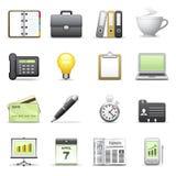 stylized affärssymboler Arkivfoto