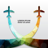 Stylized airplanes Royalty Free Stock Image