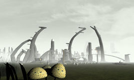 Stylized Alien City Stock Photos