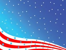 Stylized american flag. Art illustration; easy to modify colors or background Royalty Free Stock Photos