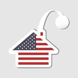 Stylized american flag house wobblerStylized american flag house wobbler Stock Photography