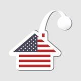 Stylized american flag house wobblerStylized american flag house wobbler Stock Photography