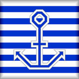 Stylized anchor on a striped background Stock Photos