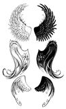 Stylized angel wings Royalty Free Stock Image