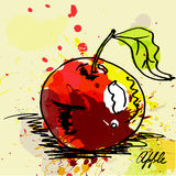Stylized apple illustration Royalty Free Stock Images