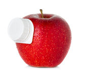 Stylized apple juice package Royalty Free Stock Photography