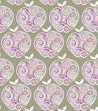 Stylized apple pattern. Stock Image