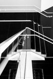 Stylized Architectural Staircase As Retro Black An Stock Photos