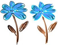 Stylized artistic  flower Stock Images