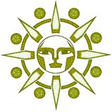 Stylized artistic Sun isolated Royalty Free Stock Images