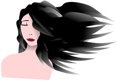 Stylized artistic woman portrait isolated Royalty Free Stock Images