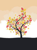 Stylized Autumn Tree Royalty Free Stock Images