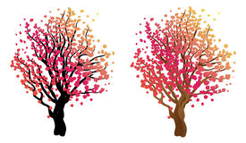 Stylized Autumn Tree. Abstract stylized tree with colorful leaves for season of autumn Royalty Free Stock Photography