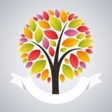 Stylized Autumn Tree Stock Image