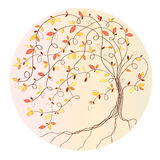 Stylized autumn tree Stock Images
