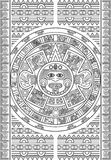 Stylized Aztec Calendar Royalty Free Stock Images