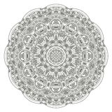 Stylized Aztec Calendar. In gray color, vector illustration Stock Photography