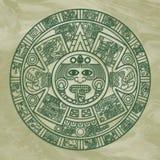 stylized aztec kalender Royaltyfria Foton