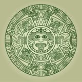 stylized aztec kalender Arkivbilder