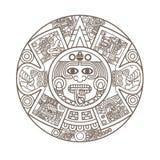 stylized aztec kalender Arkivfoton