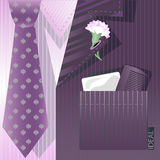 Stylized background with cravat. And flower Stock Photos