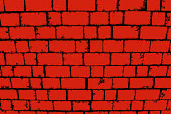 Stylized background red black brick wall. Digitally altered red black brick wall background Stock Photo
