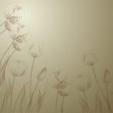 Stylized background with tulips. Retro stylized background with tulips Stock Photo