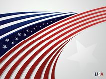 Stylized background USA patriotic design with line Royalty Free Stock Images