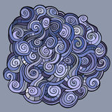 Stylized background with waves. Round shape made of waves ornaments Stock Images
