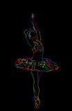 Stylized ballerina Stock Images