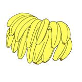A  stylized bananas Royalty Free Stock Photos