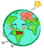 Stylized Band-aid Globe Stock Image