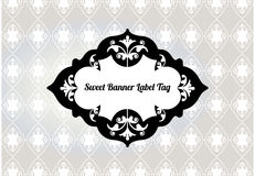 Stylized banner Tag Stock Images