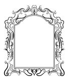 Stylized baroque frame Royalty Free Stock Photos