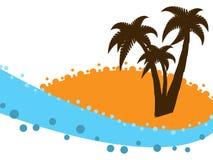 Stylized beach Stock Image