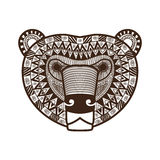 Stylized Bear face Stock Photography