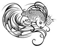 Stylized beautiful fish Stock Photo