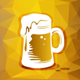 Stylized beer glass Stock Image