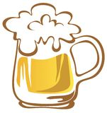 Stylized beer mug Stock Photography