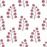 Stylized berries. Seamless background for  design. Stylized berries. Seamless background for your design Stock Photos