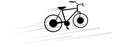 Stylized bicycle in black isolated Royalty Free Stock Photo
