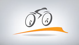 Stylized bicycle. On a gray background, vector illustration Royalty Free Stock Image