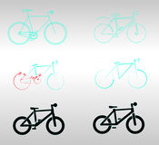 Stylized bicycles Stock Photo