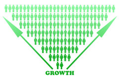 Stylized Big Growth Graph Design Stock Image