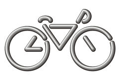 Stylized bike Royalty Free Stock Photo